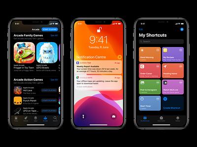 iOS 13 GUI for Sketch and Figma iphone ui freebie gui ui kit apple guidelines ios design app design figma sketch ios13 ios