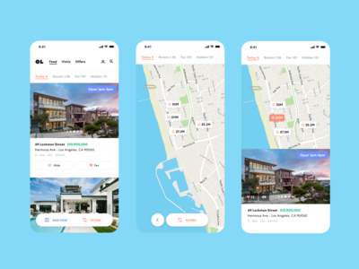 Open Listings Feed 🌊. Card and Map views / Mobile