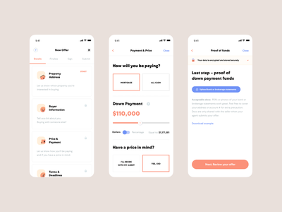 Offer flow @ Open Listings iOS App visual design icons offer open listings interfaces home real estate ios house product mobile app ui ux product design