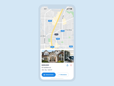 In-app navigation | Opendoor app maps cards app mobile design listing ios interaction modal navigation map ux ui product design mobile app opendoor home real estate card search