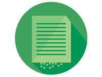Flat Print Icon
