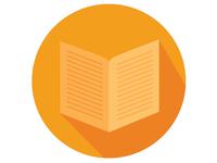 Flat Book Icon