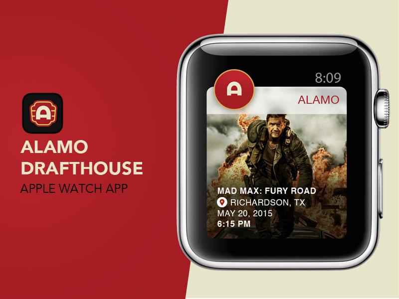 Alamo Drafthouse Apple Watch App iwatch ticket showtime mad max movie alamo drafthouse app apple watch watch apple
