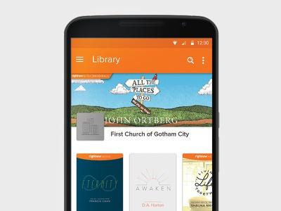 RightNow Media Android App- Material Design ui ux rightnow media app android material design