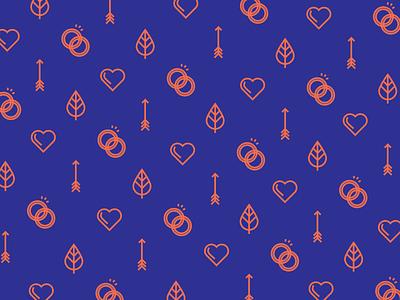 Romance Icon Pattern valentines leaf rings arrow heart pattern icon romance