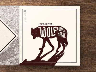 New Album - Dave and Kate | Before the Wolf Comes Home illustration cover music vinyl cd print acoustic folk album kate dave wolf