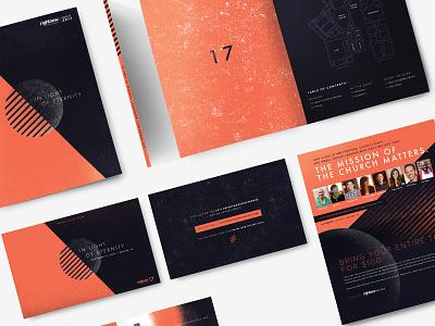 2017 Conference Branding geometric print rightnow conference branding