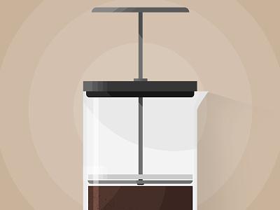 Press On brew beans press coffee french press