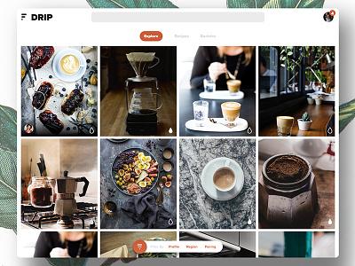 DRIP Web App ux ui drip coffee app web