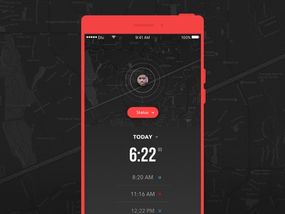Timecard App (WIP) monochrome ux ui mobile android ios app timecard wip