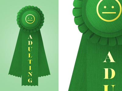 #Adulting illustration texture funny award ribbon adulting adult
