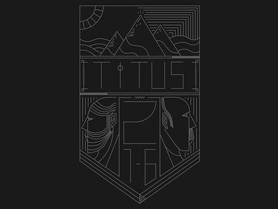 Titus Line Badge icon badge illustration titus bible line art