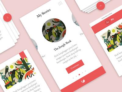 Storybook App read ux ui app book story