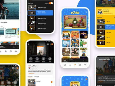 RightNow Media App Redesign redesign streaming video bible studies ios android uidesign product ux app rightnow media