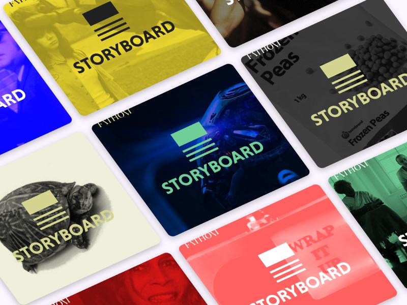 Storyboard Podcast Branding for Fathom Magazine branding icon logo branding and identity podcast art podcast storyboard fathom