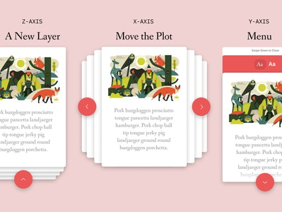 Storybook App Interaction Layers concept character illustration owen davey apple android ios ux ui app ereader book storybook