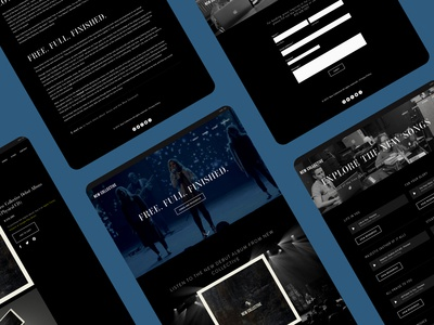 New Collective Site bent tree new collective music branding ui webdesign