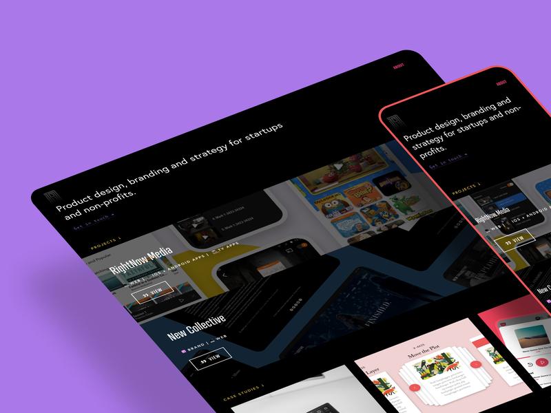 New Site daniel lu concepts project product design webdesign portfolio rightnow media ios branding logo ux app typography ui icon freelancer web freelance