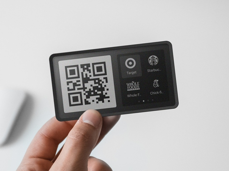 Loyal - Smart Loyalty Card ios android branding app icon whole foods starbucks chick fil a target qr epaper hardware design industrial design product ux ui card loyalty card smart loyal