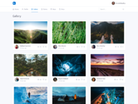 Dashboard - Gallery view in Bootstrap v4 by Paweł Kuna on Dribbble