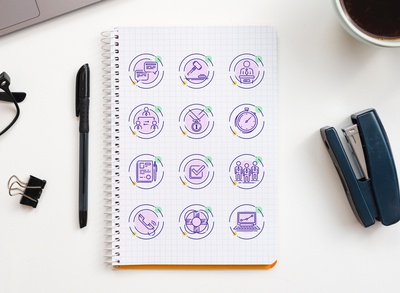 A new custom set of vector icons for a web site or emails