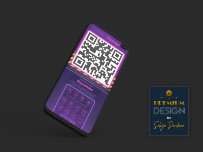 Mobile app neon invite neon light app design invitation design