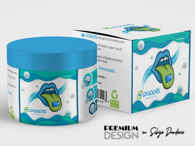 Toothpaste pods label design packagedesign labeldesign visual identity brand identity brand design label design