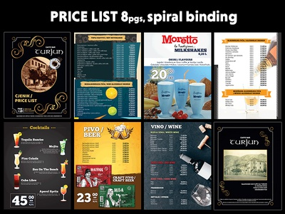 Price List 8 pgs - spiral binding