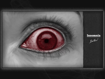 Insomnia horror art illustration adobe photoshop wacom intuos
