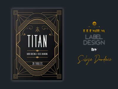Titan Nootropic Label and Logo Design - Bioshock inspiration bioshock rapture premium design logodesign labeldesign label packaging label design