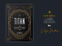 Titan Nootropic Label and Logo Design - Bioshock inspiration