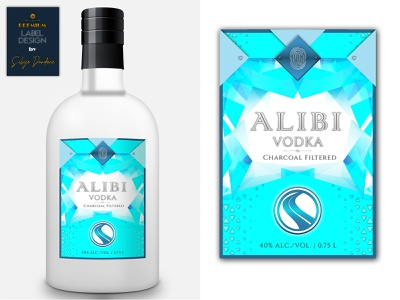Premium label design for vodka branding wacom intuos design visual identity brand identity brand design vodka labels label design labeldesign