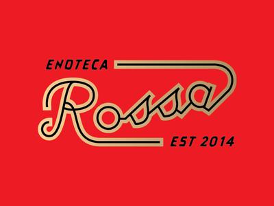 Enoteca Rossa logo logotype script