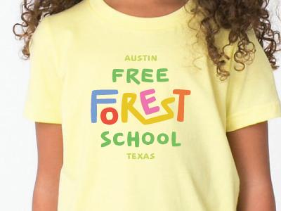 Forest School Shirt forest school preschool custom typography logo shirt
