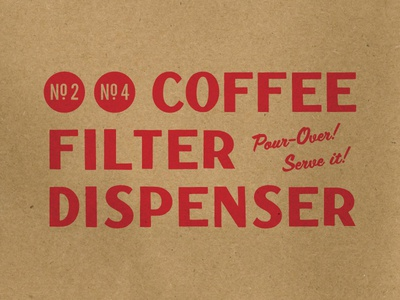 Coffee Filter Dispenser