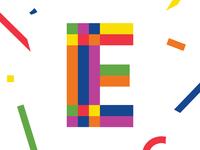 Confetti Letter 'E'