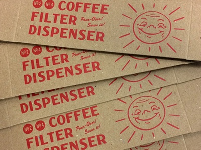 Coffee Filter Package kraft offset print one-color illustration typography package