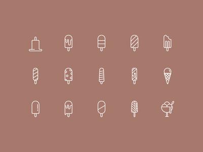 Ice Cream Icon Set Part 1