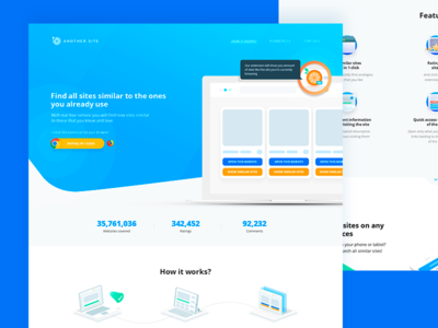 Landing page for another.site, chrome extension.
