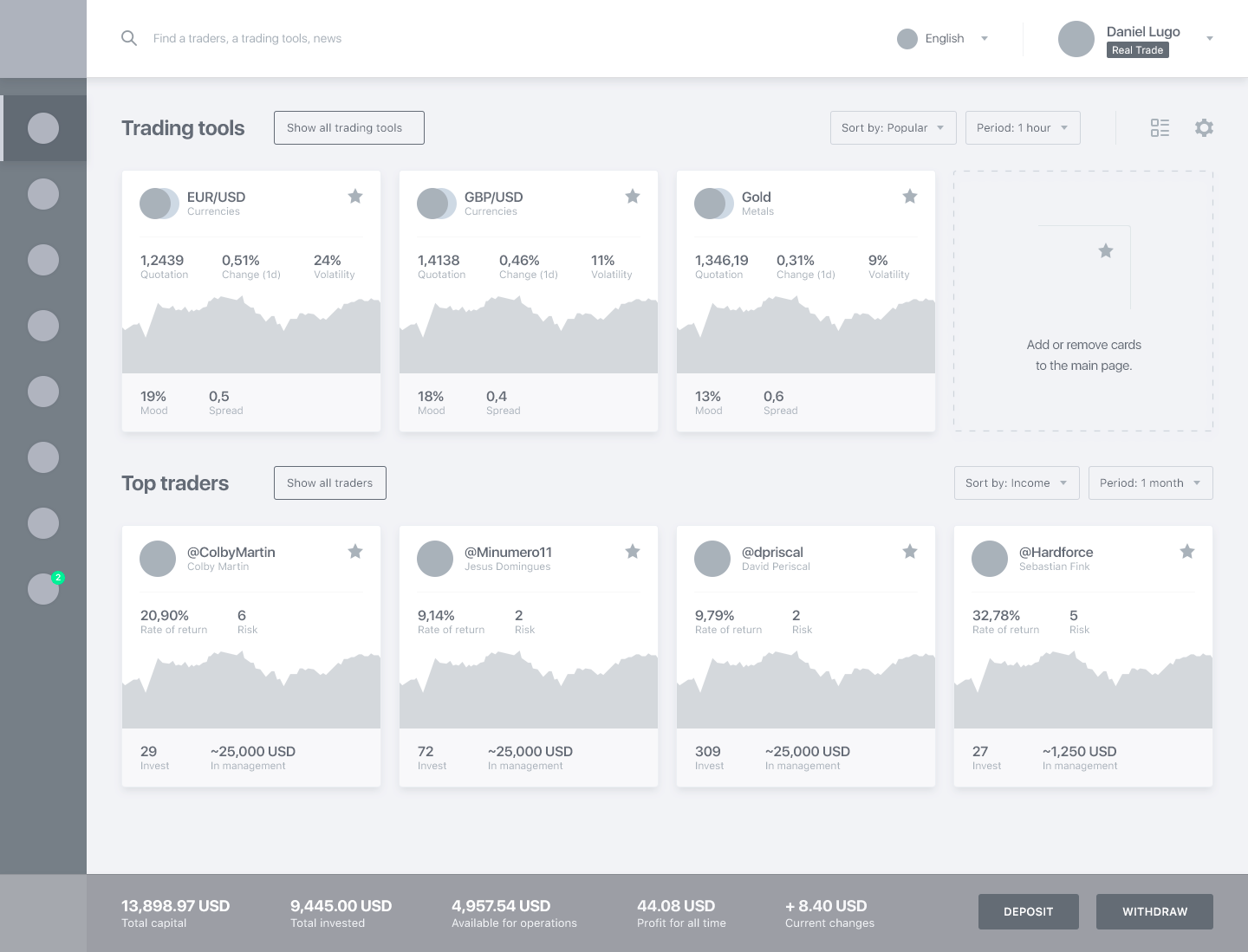 Ux wireframe   main page