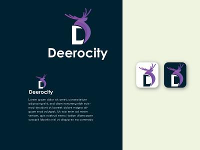 Deerocity Logo Design Template logo design d lletter deer ui animation 3d illustration graphics design graphic design colour logo design branding unique logo design