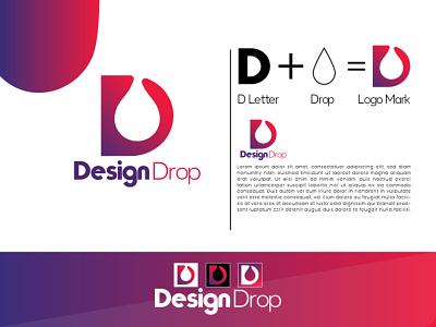 Design Drop Logo Design Mockup negative space deer animation motion graphics illustration logo design graphic design colour logo design 3d branding unique logo design