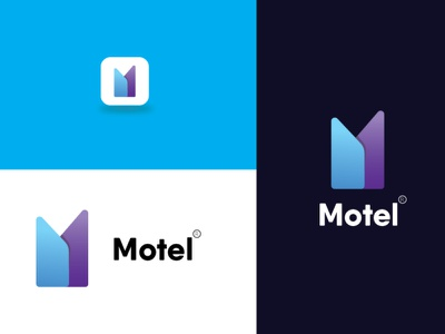 Motel Logo Design  Template gradian house motel illustration graphics design logo 3d motion graphics animation graphic design colour logo design branding unique logo design