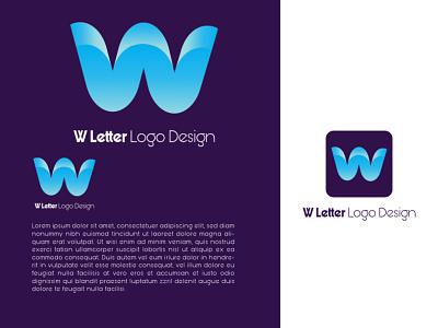 W Letter Logo Design Template word world w letter 3d illustration graphic design colour logo design branding unique logo design graphics design ui logo design