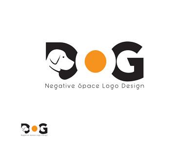 Dog Negative Space Logo Design negative space dog graphics design design 3d branding logo motion graphics animation ui illustration graphic design colour logo design unique logo design