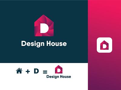 D House Logo Design Template house d letter animation motion graphics 3d ui branding logo design graphics design illustration graphic design colour logo design unique logo design