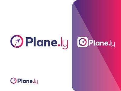 Plane Logo Design Mockup o letter mail plane design graphics design illustration logo motion graphics ui animation graphic design colour logo design branding 3d unique logo design