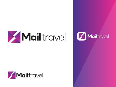 Mailtravel mockup travel mail animation motion graphics 3d ui logo graphics design illustration graphic design colour logo design branding unique logo design