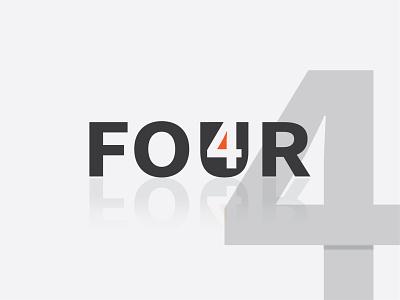Four Negative Space Logo design creative space negative 4 four graphics design illustration logo motion graphics 3d animation ui graphic design colour logo design branding unique logo design