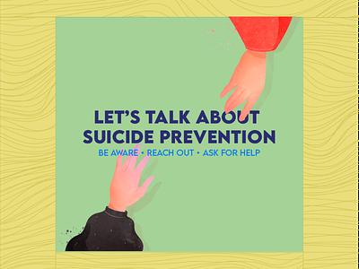 Suicide Prevention Month Poster instagram month prevention suicide graphic design vector illustration design